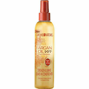 CREME OF NATURE STRENGTH AND SHINE LEAVE IN CONDITIONER 250ml + Free P&P