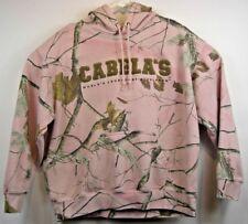 Cabela's Women's Pink Camo Camouflage Hooded Sweatshirt Long Sleeve RealTree XL