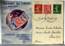 CPA  PARIS JOURNEE DU TIMBRE  5 MARS 1939    266CA67