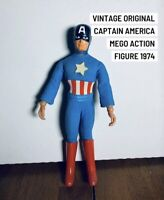"Vintage 1974 Mego Captain America 8"" Original Action Figure ~Marvel Comics"