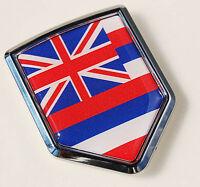 Hawaii Flag Hawaiian Car Chrome Emblem Decal Sticker