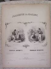 ANTIQUE MUSIC JEANNETTE JEANNOT CHARLES GLOVER JEFFERYS