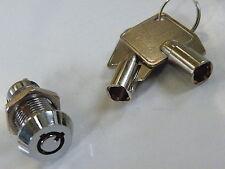 Interruptor de barril de seguridad clave operado SPST On-Off 2 posición común 2 Teclas 907 A