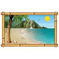 *Tropical Island BEACH GETAWAY Wall Prop Decoration*INSTANT MURAL*Luau*Hawaiian*