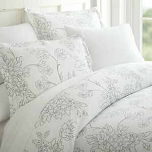 Simply Soft 3 Piece Vines Patterned Home Collection Premium Ultra Soft Duvet ...