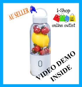 USB Blender  Portable Vegetable Juicer Fruit Juice Electric Rechargeable White