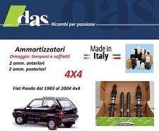 4 AMMORTIZZATORI DAMPO FIAT PANDA I°s. 4X4 DAL 1983 AL 2004 MADE IN ITAY NUOVI