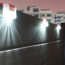FJ- UK SOLAR POWER LED PATH STAIR LIGHT OUTDOOR GARDEN FENCE LANDSCAPE WALL LAMP