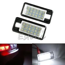18 LED License Plate Lights Lamps For Audi A3 A4 S4 B6 B7 S3 A6 S6 A8 Q7 RS4 RS6