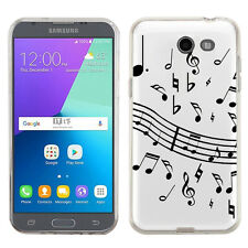 TPU Case for Samsung Galaxy J3 Luna Pro 4G LTE / Eclipse - Music Notes / White