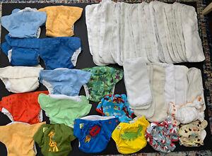 52pc Cloth Diaper Lot Bumgenius gro via rumparooz monsters pockets inserts