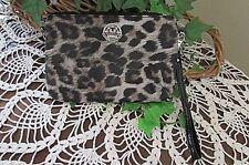 KATHY VAN ZEELAND leopard animal print organizer wristlet handbag-nwot