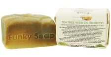 1 piece Tea Tree & Neem Oil Shampoo Bar, 100% Natural Handmade 120g
