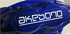 WHITE AKEBONO Brake Caliper DECALS HI TEMP! Decals Stickers ~ SET OF 4!