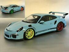 """Minichamps Porsche 911 (991) GT3 RS Gulf """"4 color wheels"""" 1:18 UMBAU"""