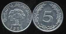 TUNISIE  5 millim  1996   SPL  ( bis )