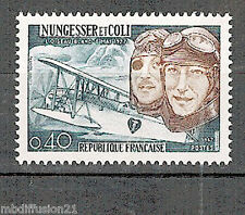 1967- Timbre france neuf**/- NUNGESSER ET COLI - Aviation - Stamp..Yt.1523