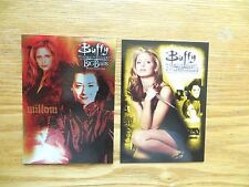 INKWORKS 2 BUFFY 10TH ANNIVERSARY P1 & BIG BADS P3 PROMO CARDS
