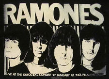 RAMONES SKETCH T-shirt Vintage NYC Punk Rock Band Tee Adult Mens SMALL Black New