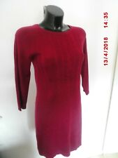 F&F Jumper Dress Bodycon Thin Knit Mini Purple Long Sleeved Size UK 8 New