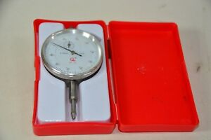 Dial Gauge Indicator 0 -10 mm in 0.01 mm increments boxed Clock readout Analogue