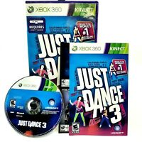 Just Dance 3 (Xbox 360, 2011, CIB) Complete! Manual Included!