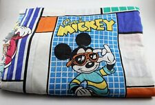 Vintage MICKEY MOUSE Twin Size FLAT BED SHEET ** 1980's Pacific USA (EUC) / L@@K