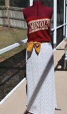 FSU Florida State Seminoles Strapless Tube Maxi Dress Sash Upcycled T-Shirts XS