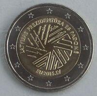 2 Euro Lettland 2015 Ratspräsidentschaft unz.