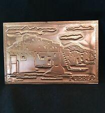 Vintage Copper Postcard Pueblo Design Kopper Kard Co
