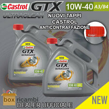 OLIO MOTORE CASTROL GTX ULTRACLEAN 10W40 A3/B4 Motore DIESEL BENZINA 8 LT Litri