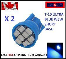 2X Blue Xenon LED T10 8SMD/5050/194Bulbs Light 68 W5W license Plate Short Base