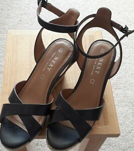 Next Leather Wedge Sandals Size 5.5