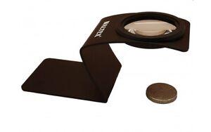 MAGNIFIER - WALTEX 5X Desk Magnifier, Stamp/Coin/Bug Viewer, Z-Stand, NEW (134)
