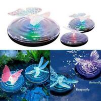 Solar LED Butterfly & Dragonfly Floating Fountain Pond Garden Pool Light R4T6