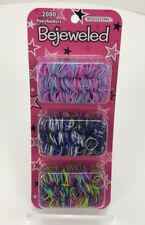 Bejeweled Girls Pony Tail Holders / Hair Ties - Multi Color - 2000 Count - NEW