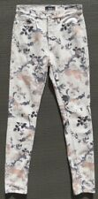 BDG URBAN OUTFITTERS Gray Floral High Rise Twig Ankle Skinny Jeans sz 26 x 29 4