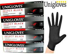 New Box of UNIGLOVES 4 BLACK Latex / Nitrile Powder Free TATTOO Tattooist Gloves