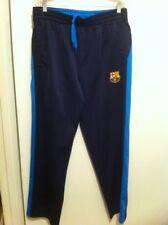 Fcb Men's L Polyester Pants Dark & Light Blue With Pockets Athletic