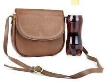 Authentic Burberrys Brown Leather Sling Shoulder Bag Hand Bag Purse Used Vintage