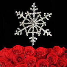 Silver Snowflake Diamante Cake Topper Disney Frozen / Christmas / Kids 6cm
