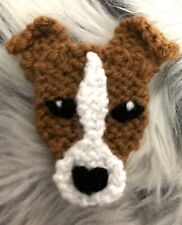 New listing Jack Russell Terrier Knitted Brooch New!