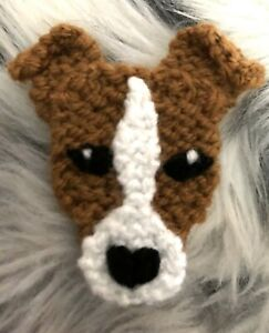 JACK RUSSELL TERRIER KNITTED BROOCH NEW!