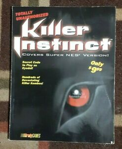 Killer Instinct Bradygames Strategy Game Guide Covers Super NES
