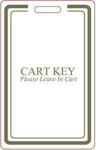 Golf Cart Key Tag (Leave In Cart 10 Pack)