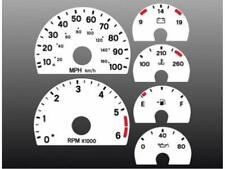 1997-2000 Jeep Wrangler Dash Cluster White Face Gauges 97-00