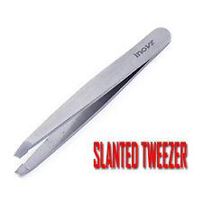 """Slanted Tweezer Professional Eyebrow Tweezers Face Hair Beauty Plucker 4"""" Silver"""
