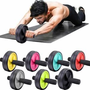 Ab Abdominal Exercise Roller Dual Wheel Workout Strength Training Gym Foam Abs