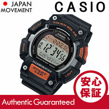 Casio tough solar powered running pro watch 120 laps illuminator montre ORANGE
