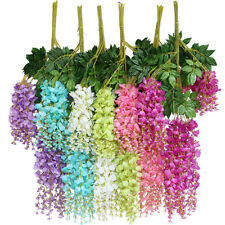 Artificial Flowers Vine Ivy Leaf Wisteria Garland Wedding Home Floral Decor DIY